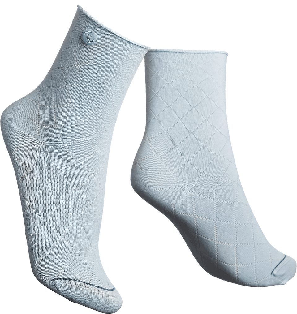 Qnoop Organic Socks Fence in Light Blue
