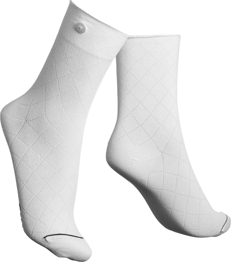 Qnoop Organic Socks Fence in White