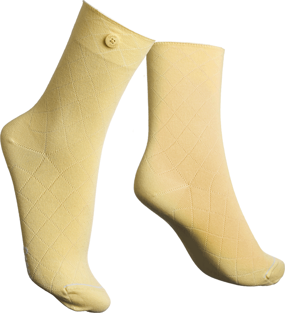 Qnoop Organic Socks Fence in Yellow