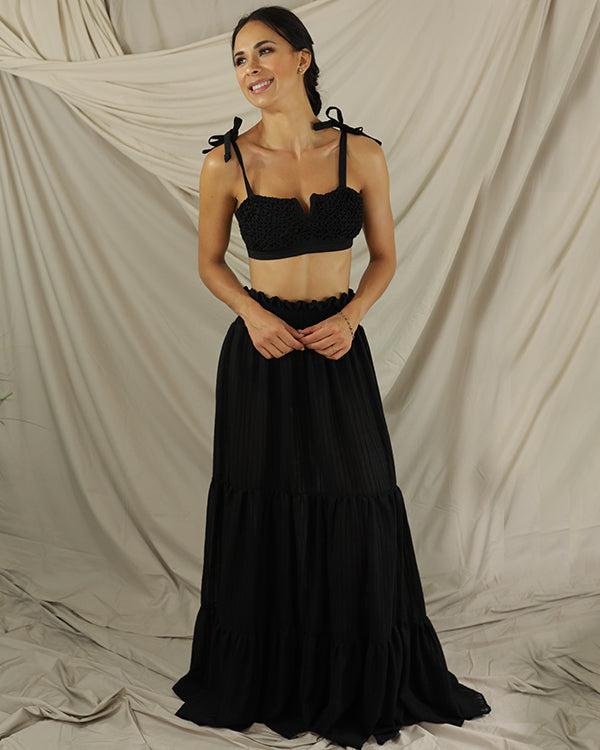 Black Eterea Skirt