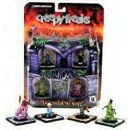 3D Trading Game Creepy Freaks Starter Set Cartoon DVD Included by WizKids