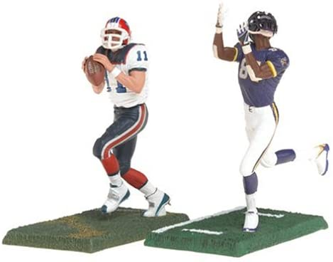 "Mcfarlane 3"" NFL 2-packs Series 2 Randy Moss and Drew Bledsoe"