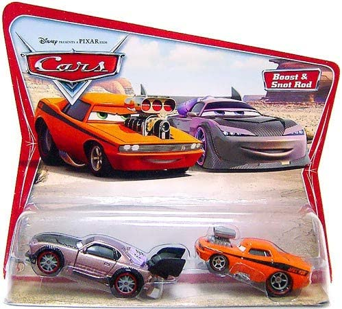 Disney Pixar Cars Movie Moments Boost & Snot Rod Character Cars on Original Desert Card Backer
