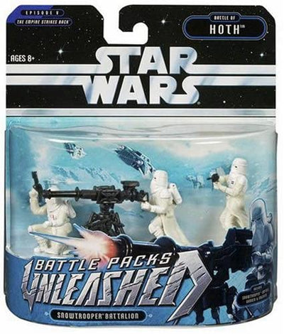 Hasbro Star Wars Unleashed Battle 4 Pack Snowtrooprr Captain & Gunners