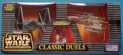Star Wars Action Fleet Classic Duels Tie Fighter vs X Wing Starfighter Micro Machines