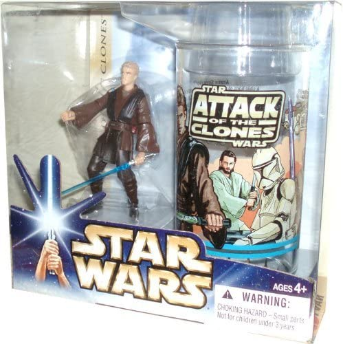 Star Wars Year 2004 Attack of the Clones Movie Series Tall Exclusive Gift Set