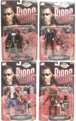 Marvel Collectors Movie Series Blade, Vampire Blade, Deacon Frorst, Whistler Figure Set