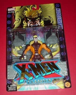 X-Men Classics Sabretooth Poseable Action Figure with Restraint Wall & Snarling
