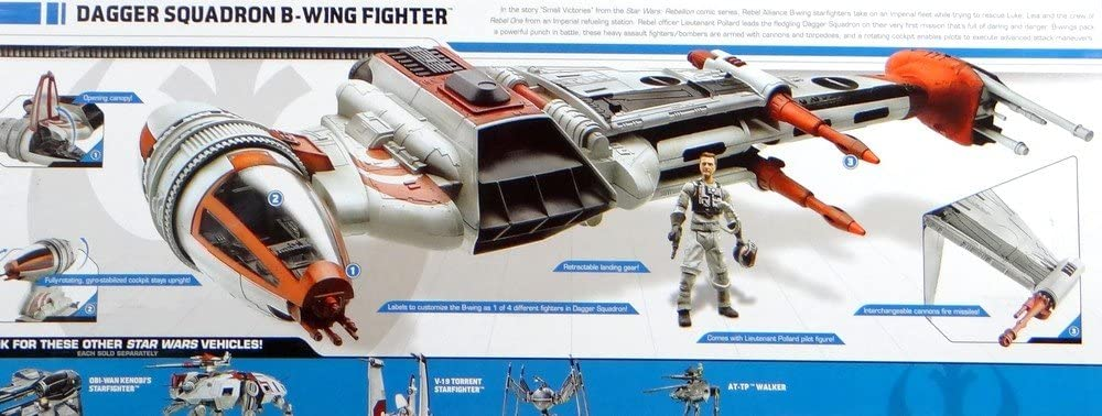 Star Wars Dagger Squadron B-WING FIGHTER Toys Exclusive Legacy Collection