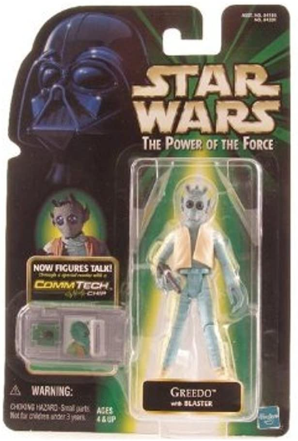 Star Wars The Power of the Force Comm Tech Greedo Action Figure