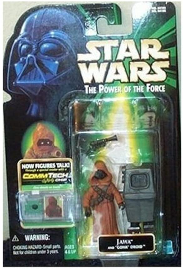 Star Wars, The Power of the Force CommTech, Jawa and Gonk Droid Action Figures
