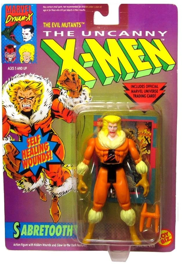 Marvel The Uncanny X-Men Sabretooth Action Figure 4.75 Inches