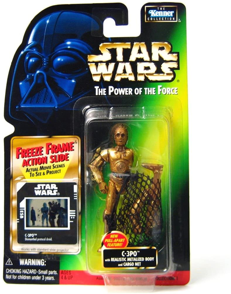 Hasbro Power of The Force Freeze Frame C-3PO w/CargoNet