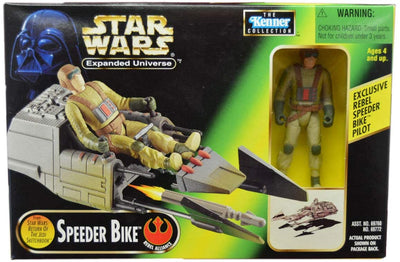 Star Wars Power of the Force Expanded Universe SPEEDER BIKE with Exlcusive Pilot