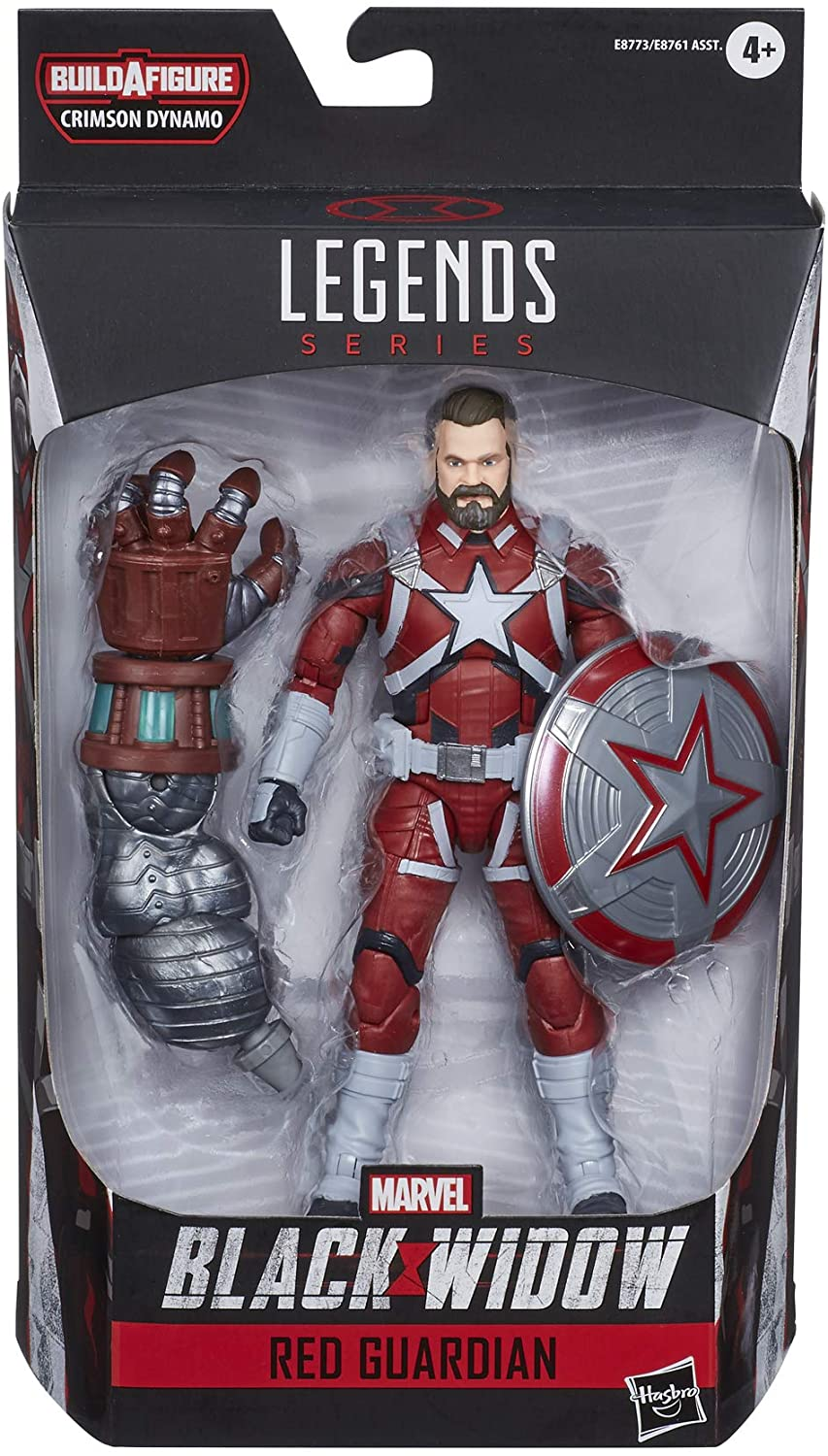 Marvel Hasbro Black Widow Legends Series 6-inch Collectible Red Guardian Action Figure
