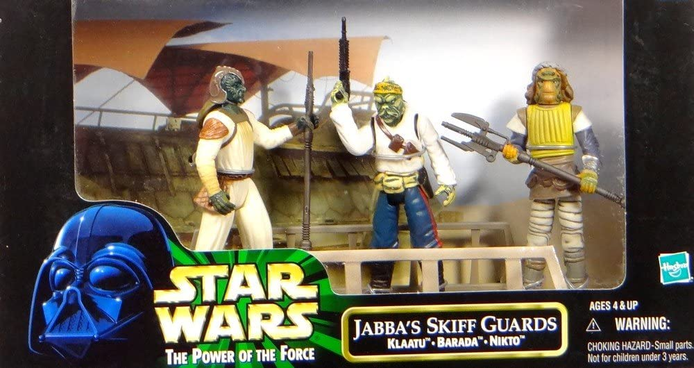 Star Wars 1998 The Power of The Force 3-Pack Movie Scene Jabba's Skiff Guards