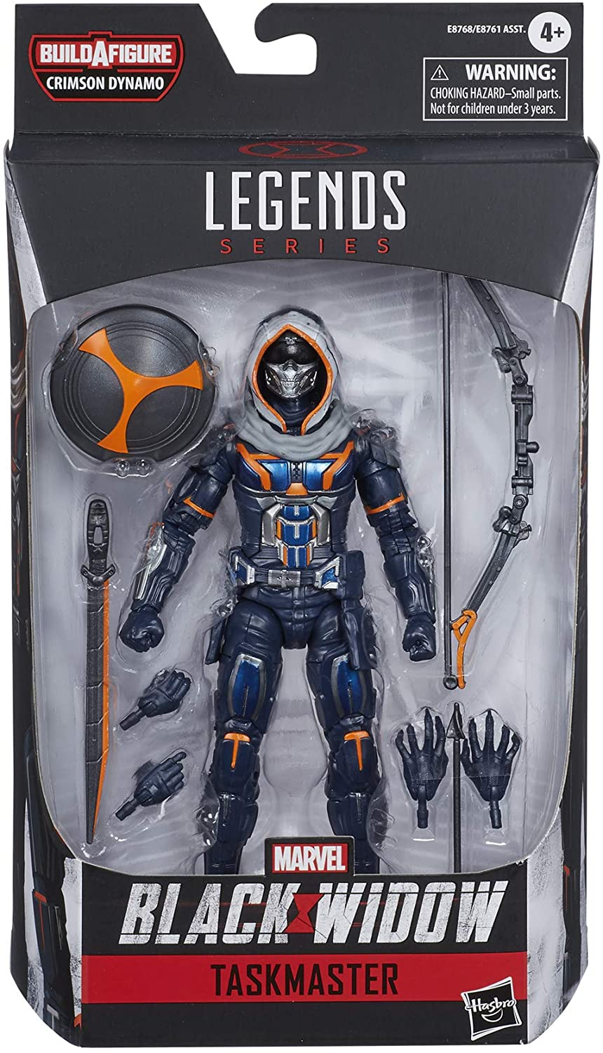 Marvel Hasbro Black Widow Legends Series 6-inch Collectible Taskmaster Action Figure Toy,