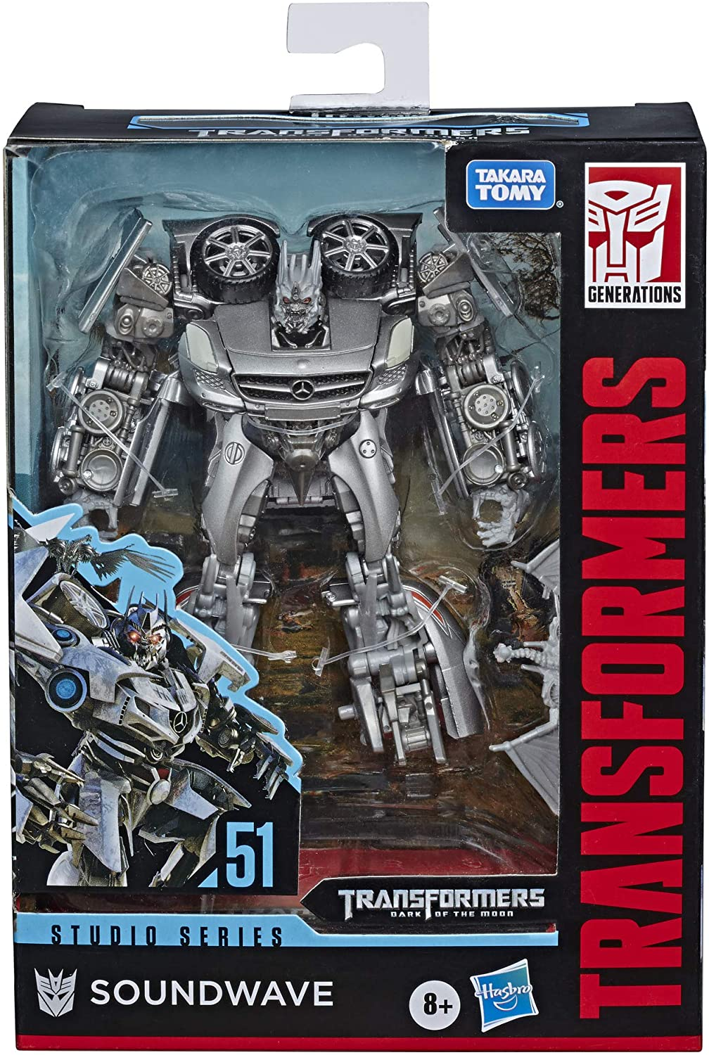 Transformers Toys Studio Series 51 Deluxe Class Dark of The Moon Movie Soundwave Action Figure