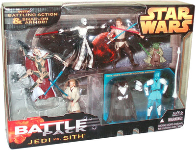 Star Wars Year 2005 Battle Packs Series 5 Pack 4 Inch Tall Action Figure Set