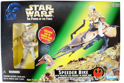 Star Wars Power of the Force Speeder Bike with Princess Leia Organa in Endor Gear