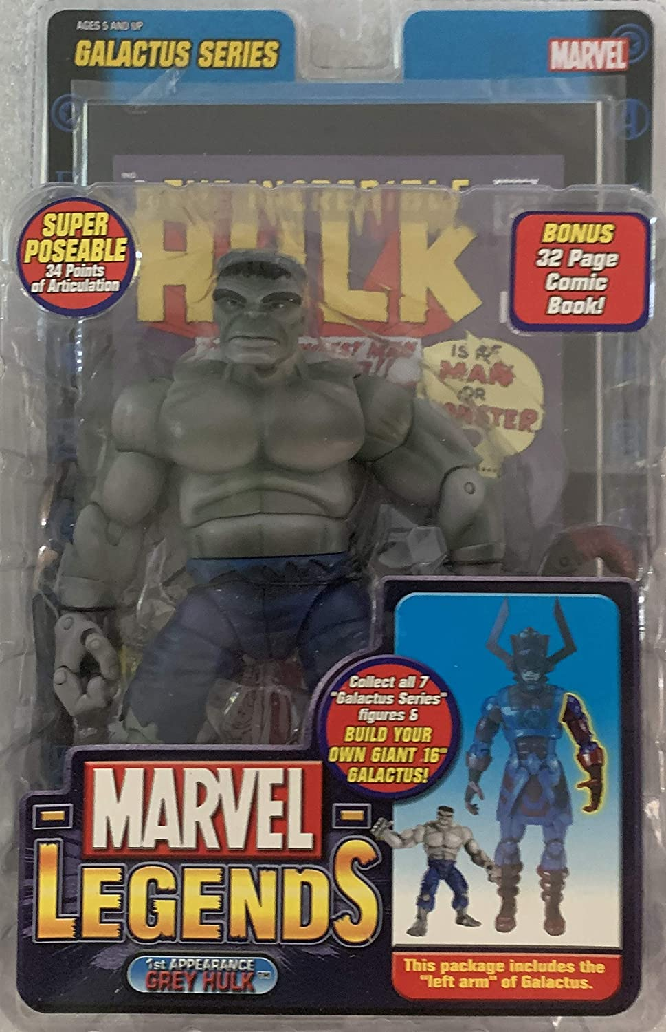 Marvel Legends Series 9 (Galactus Series) - 1st Appearance Gray Hulk
