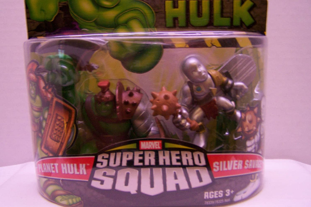 Incredible Hulk Movie Super Hero Squad 2-Pack Planet Hulk & Silver Savage