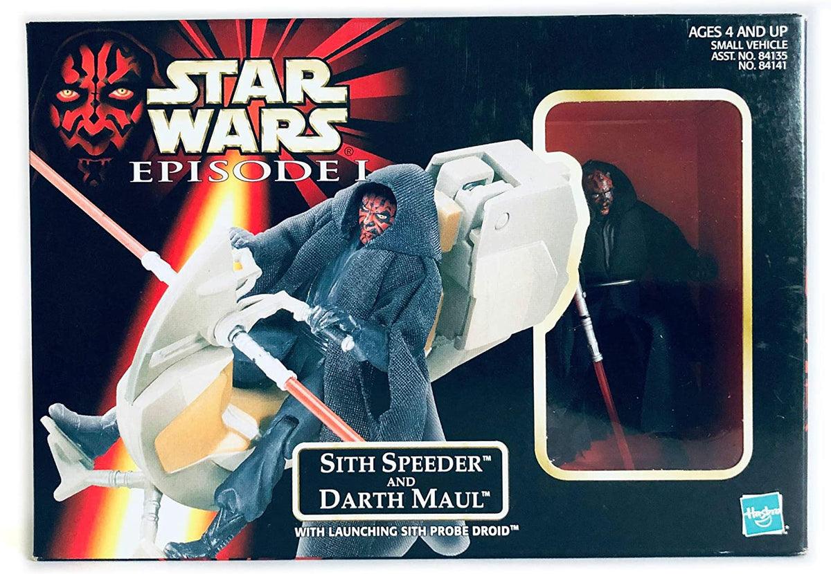 Star Wars Episode I The Phantom Menace, Sith Speeder and Darth Maul