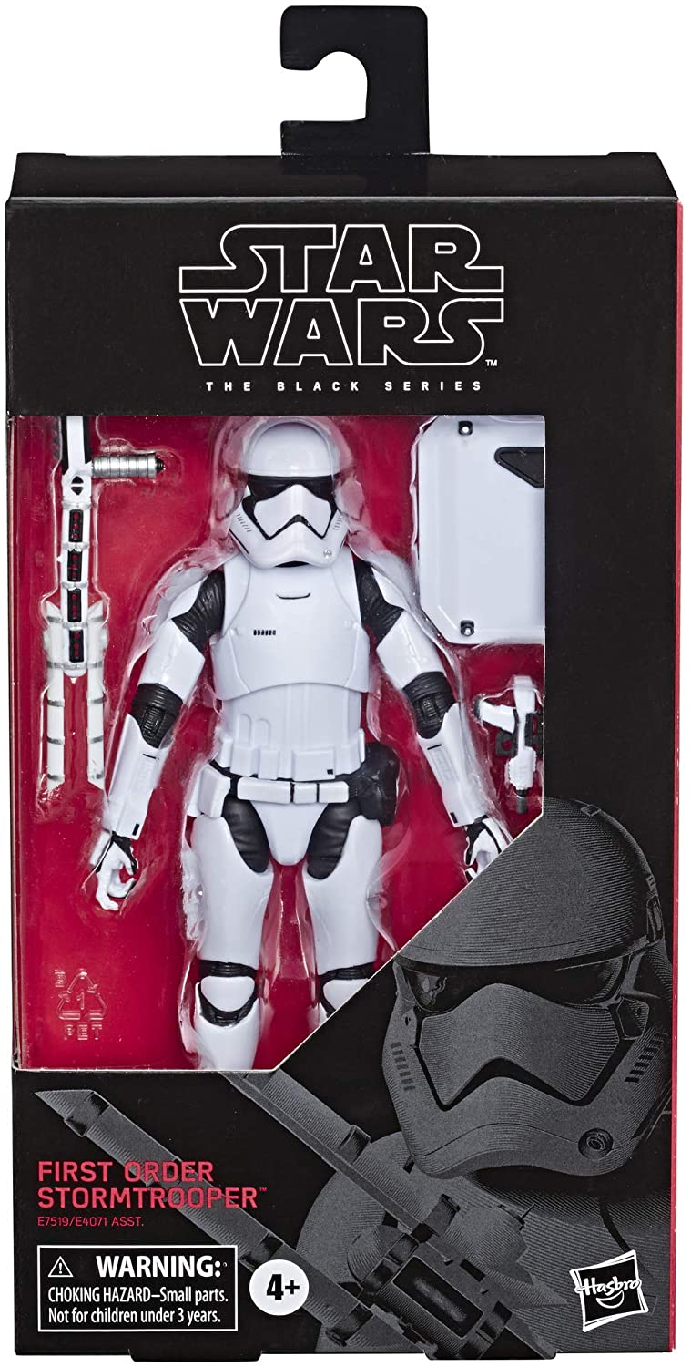 "Star Wars The Black Series First Order Stormtrooper Toy 6"" Scale The Last Jedi Collectible"