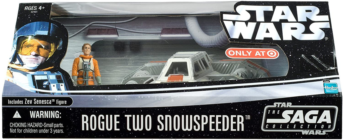 Star Wars Rogue Two Snowspeeder Vehicle Playset & Zev Senesca Pilot Figure