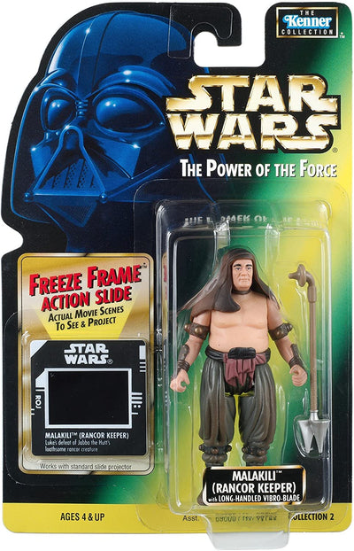 Star Wars The Power of The Force Freeze Frame Malakili (Rancor Keeper)