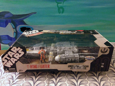 Star Wars Y-WING Fighter Toys with Y-Wing Pilot & R5-F7 Droid