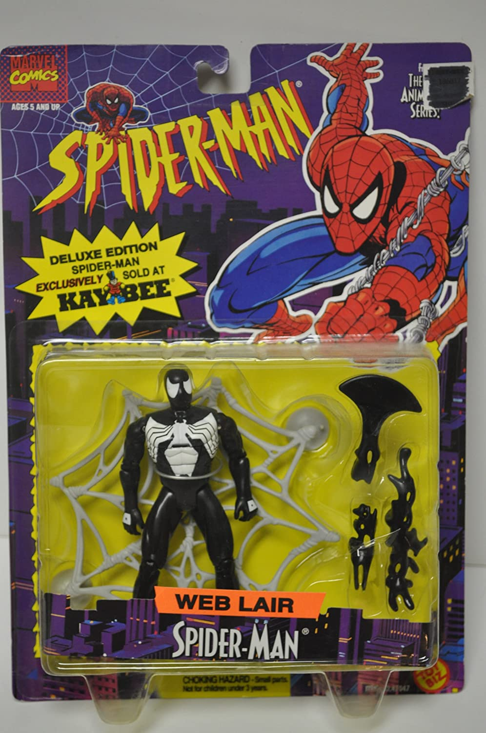 Spiderman WEB Lair Spider-man (Black Costume) Action Figure