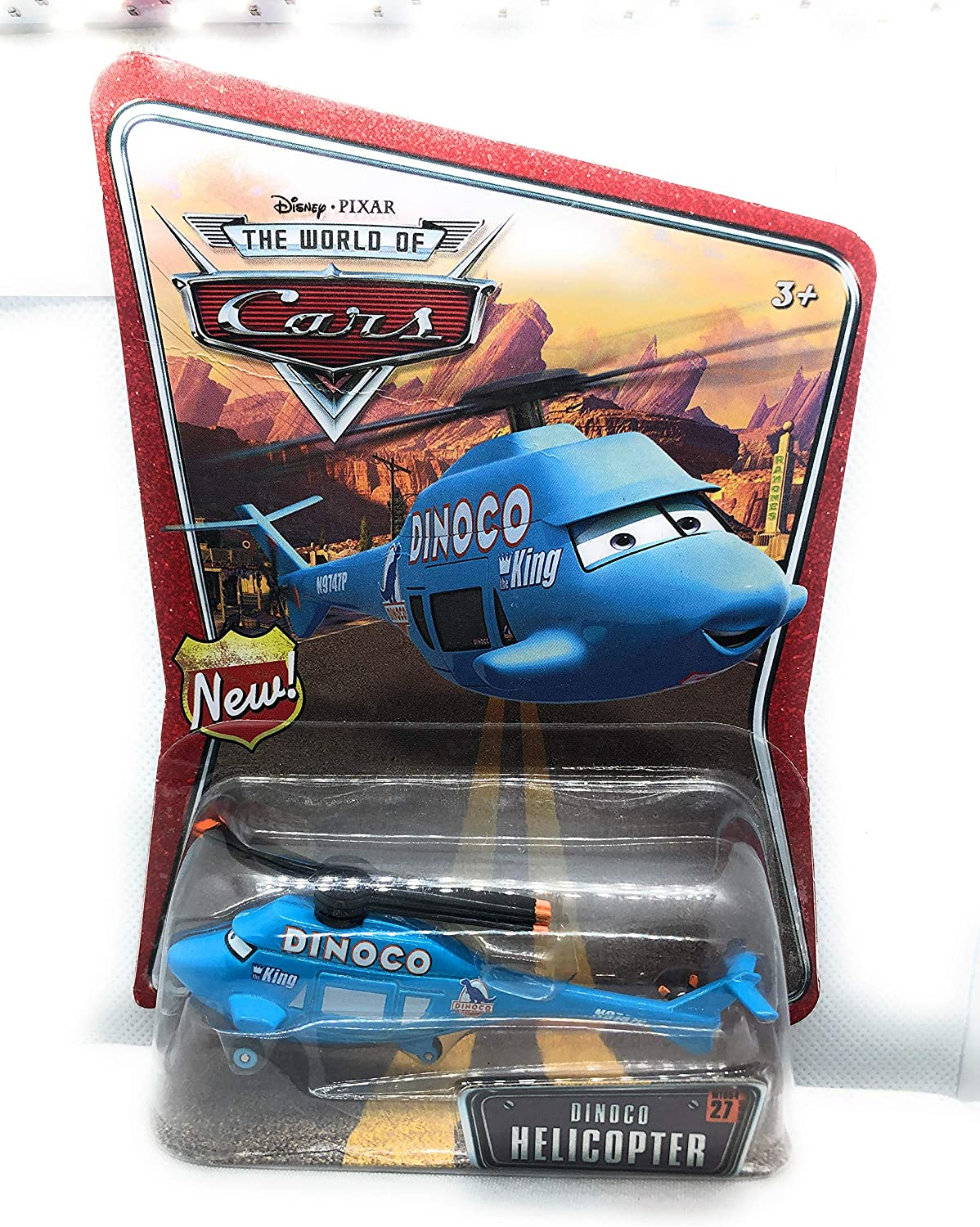 Dinoco Helicopter Disney World of Cars Edition 1:55 Scale Mattel