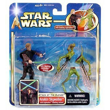 Anakin Skywalker Lightsaber Slashing Action Star Wars Saga Collection Figure