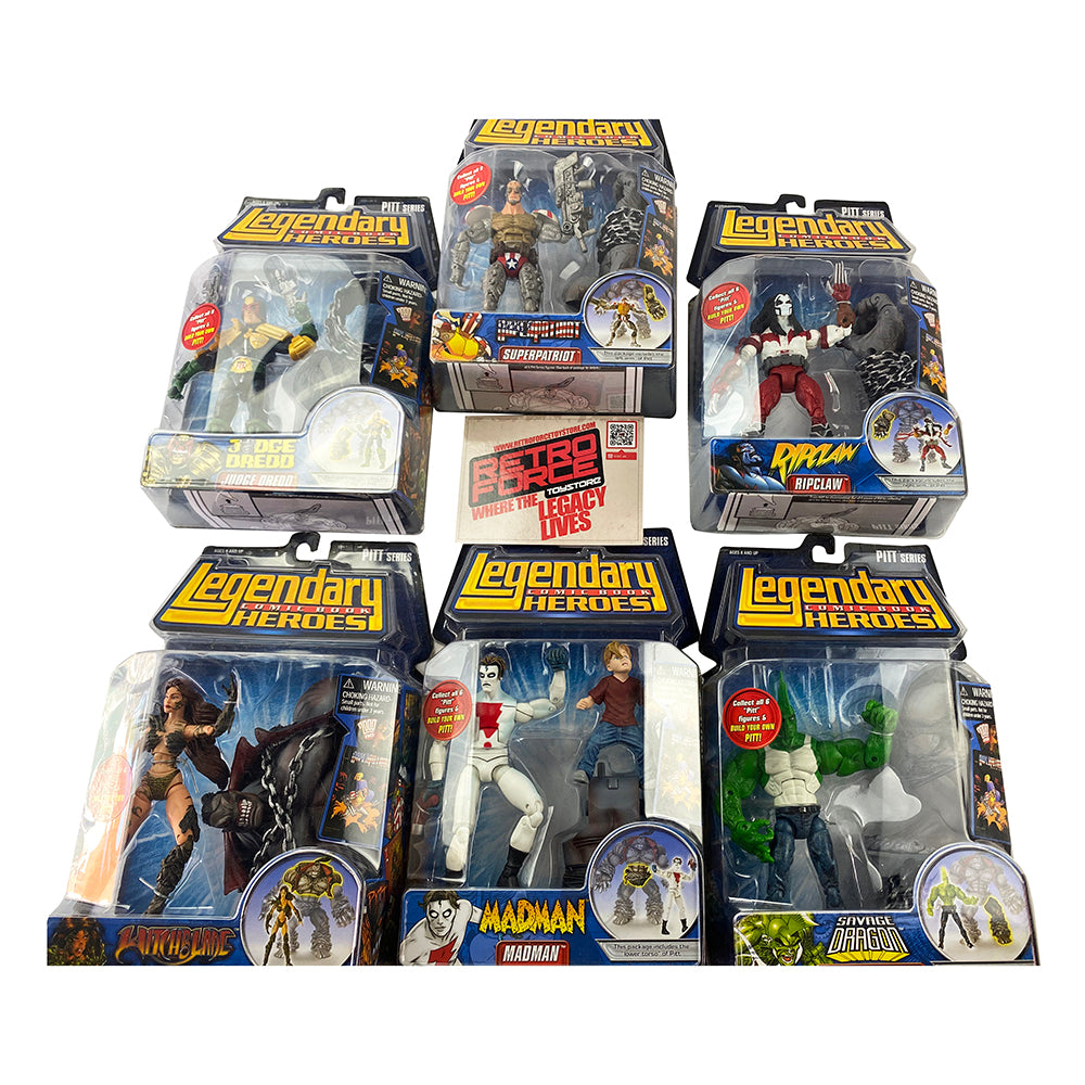Marvel Legendary Comic Book Heroes Pitt Series Action Figures (Pack of 6)