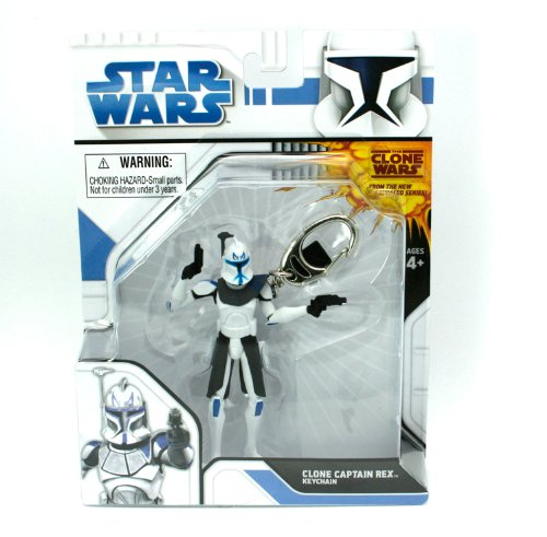 Basic Fun - Star Wars Clone Wars Series 1 - CLONE CAPTAIN REX ( keychain )