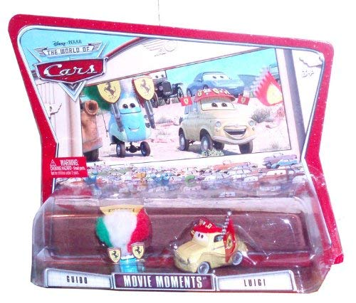 Disney Pixar Cars Movie Moments 2 Pack Car Set - Guido and Luigi (K5928-0981)