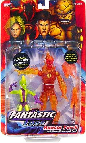 Fantastic Four Toy Biz Action Figure Series 1 Human Torch