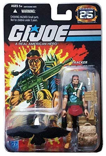 G.I. Joe 25th Anniversary: Spirit Iron-Knife (Tracker) with Eagle 3.75 Inch Action Figure