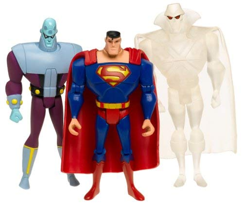 Justice League Unlimited 3-Pack: Clear Martian Manhunter, Brainiac and Superman
