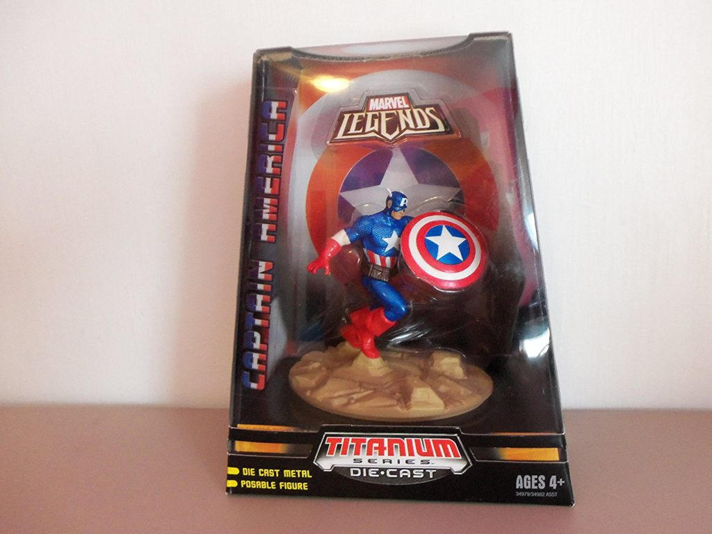 Marvel Legends Titanium Series Die Cast Figure: Captain America