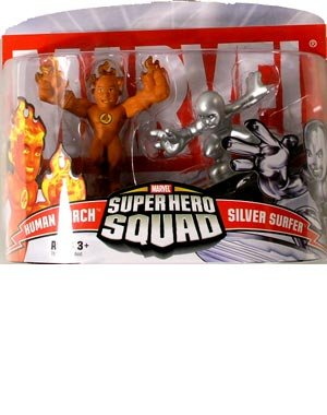Marvel Super Hero Squad Human Torch vs. Silver Surfer