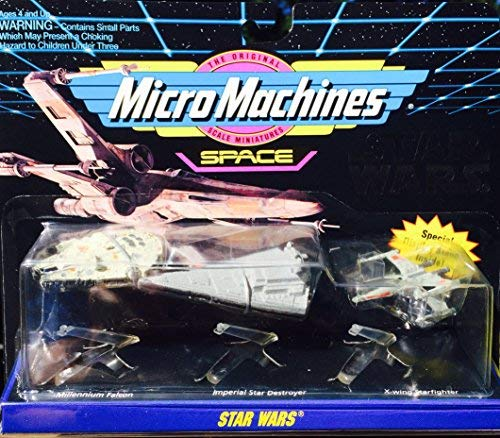 Micro Machines Star Wars Space set - Millennium Falcon , Imperial Star Destroyer , X-wing Starfighter