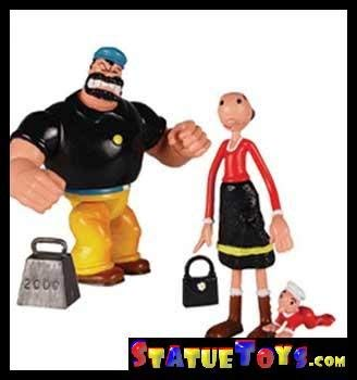 Popeye Mini Action Figure - Olive Oyl and Bluto