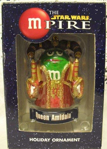 Queen Amidala Green M&M Christmas Ornament - The Star Wars MPire Series