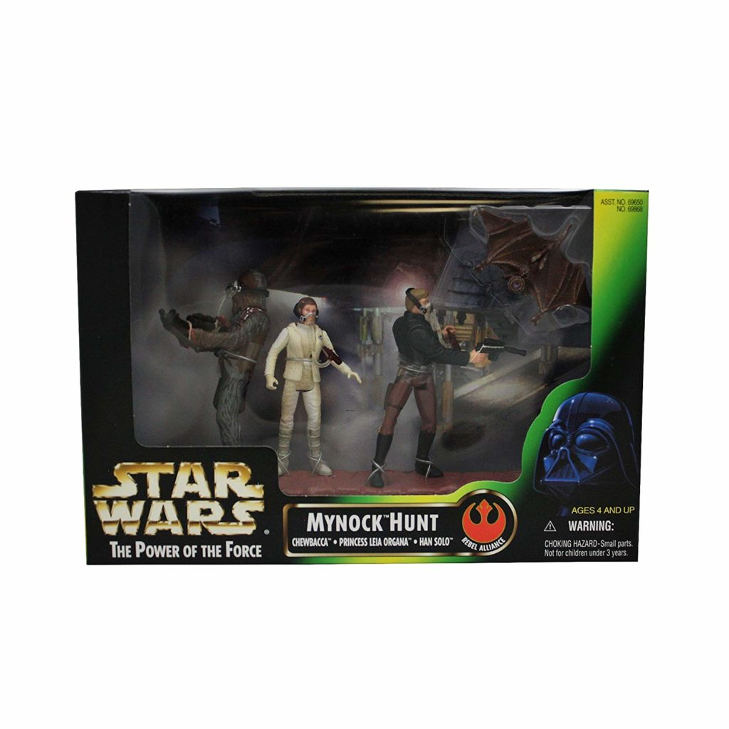 Star Wars 1998 The Power of The Force 3-Pack Movie Scene 4 Inch Tall Action F...