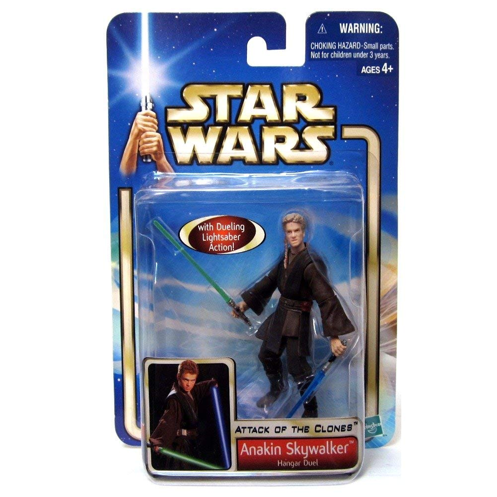 Star Wars 2002 Saga Collection Anakin Skywalker Hanger Duel (Attack of the Clones) #22 Action Figure 3.75 Inches