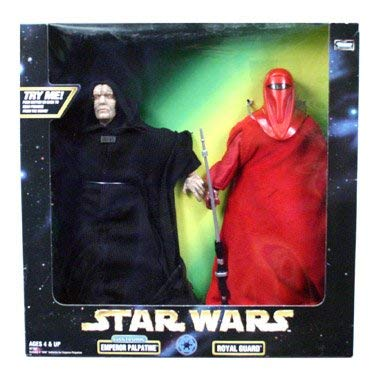 "Star Wars Action Collection 12"" Electronic Emperor Palpatine Figure with Royal Guard Figure"