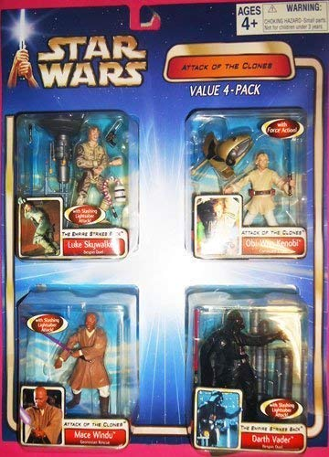 Star Wars Attack Of The Clones Action Figure Value 4-Pack