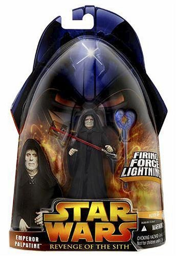 Star Wars Episode III 3 Revenge of the Sith EMPEROR PALPATINE Firing Force Lightning Figure #12